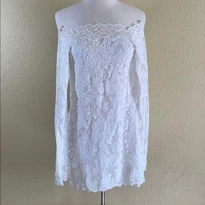 Victoria Secret The Lacie. Mini-Dress. White. S/M